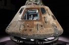 Apollo 11 command module Columbia on temporary cradle - Photo by Eric Long, National Air and Space Museum, Smithsonian Institution