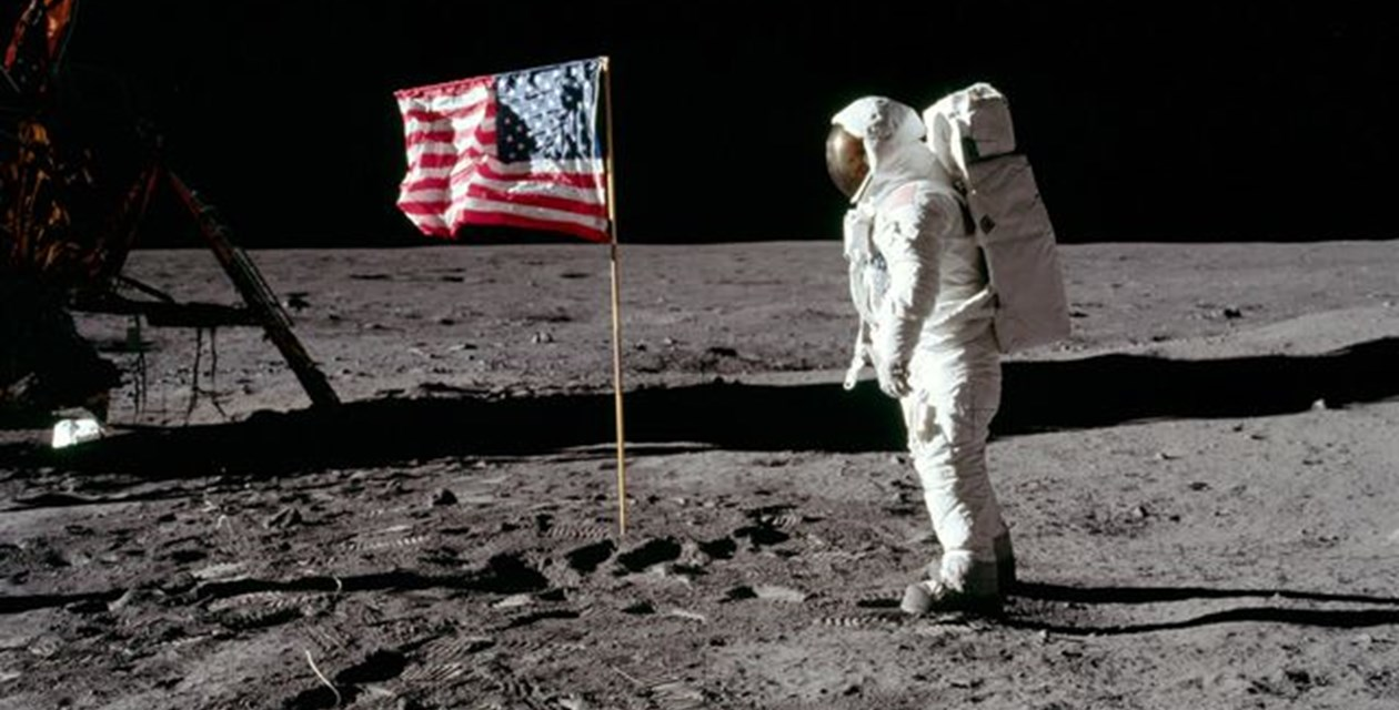 Apollo 11 and American Flag