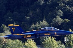 Blue Angels #7 Speeds over Boeing Field