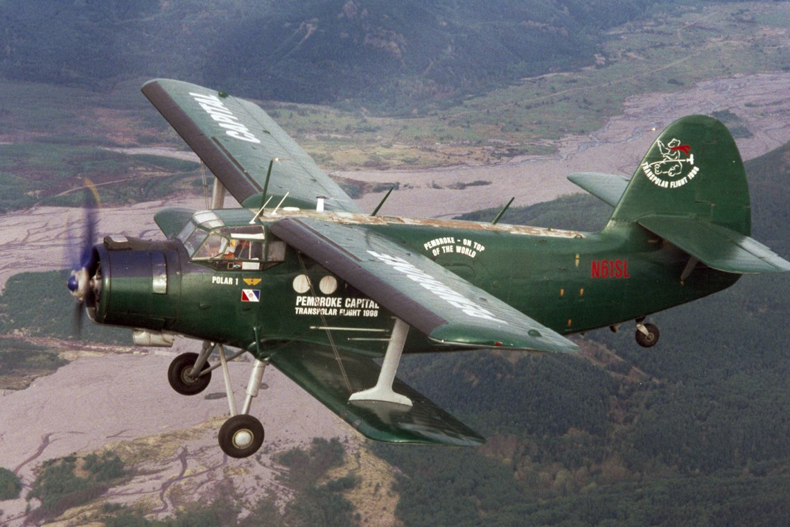 The Museum's Antonov An-2 Colt en route to Everett