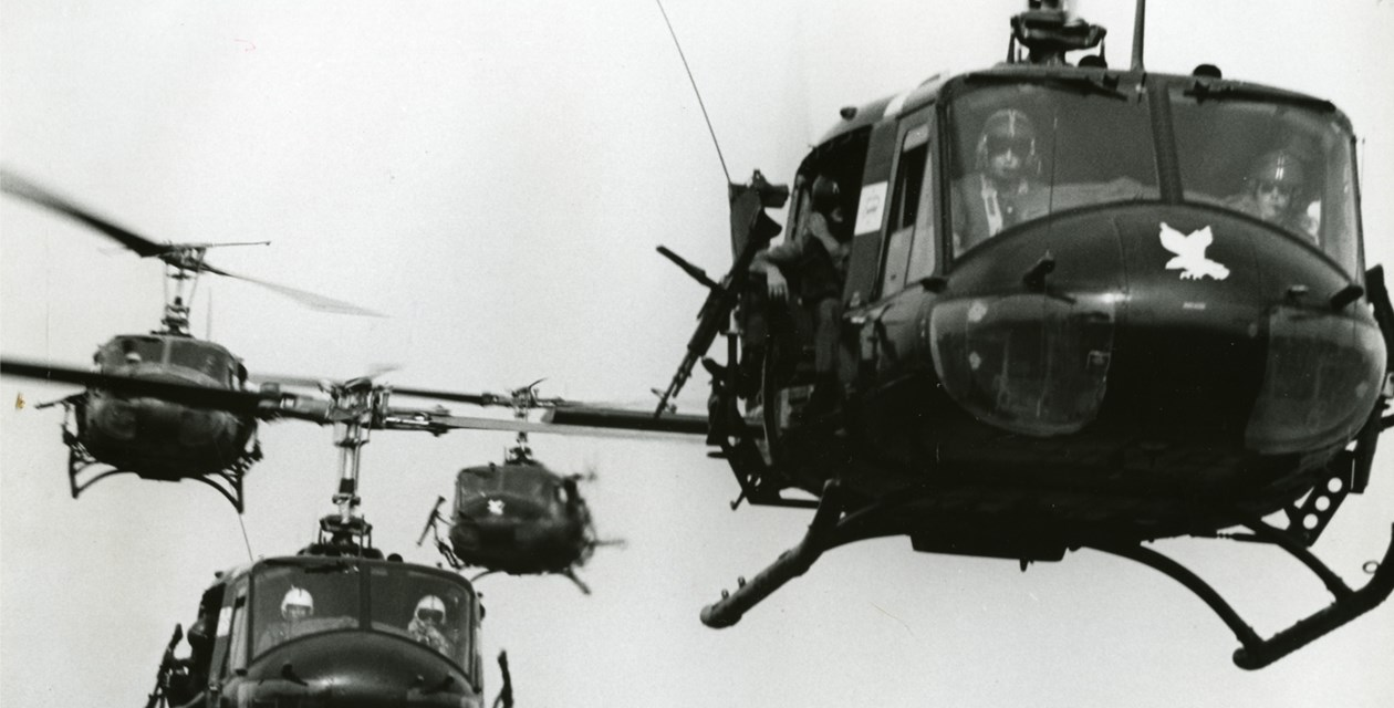 US Army Bell UH-1H Iroquois (Huey) helicopters in Vietnam
