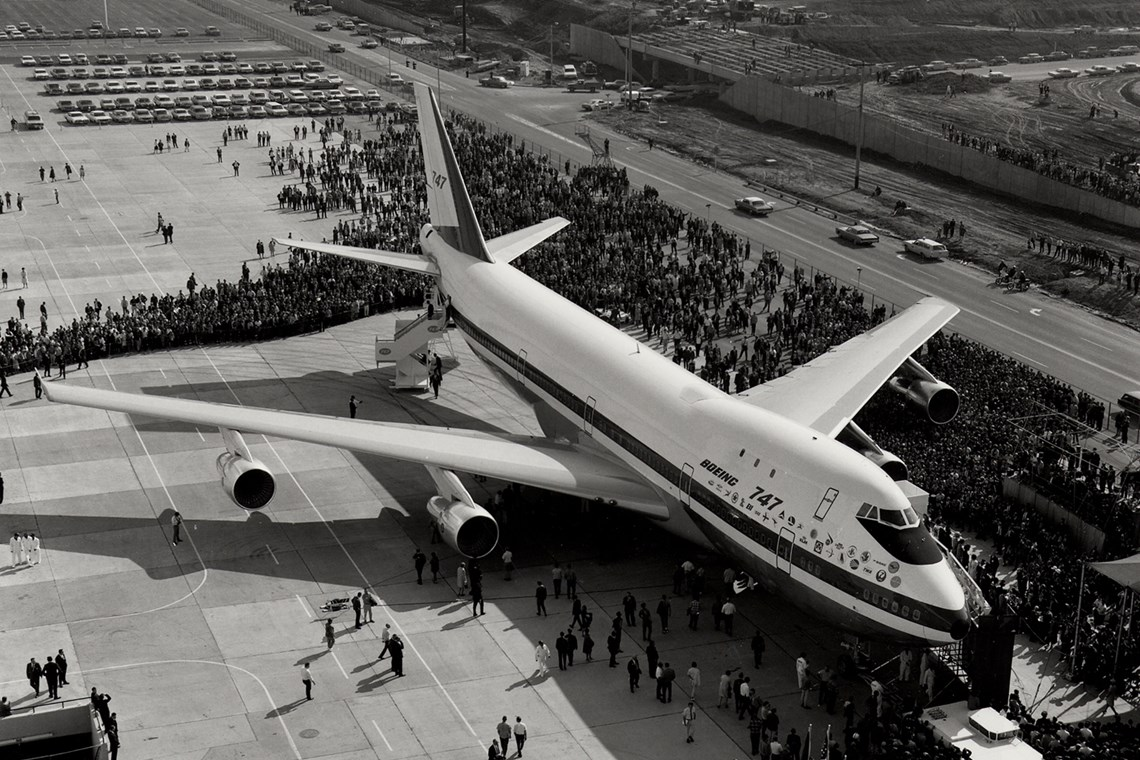 The Museum's Boeing 747-121 at Rollout on September 30, 1968