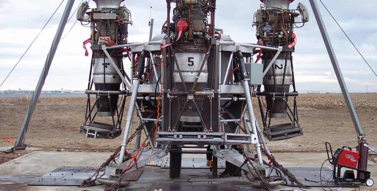Charon sits on the launchpad at Moses Lake, Washington.