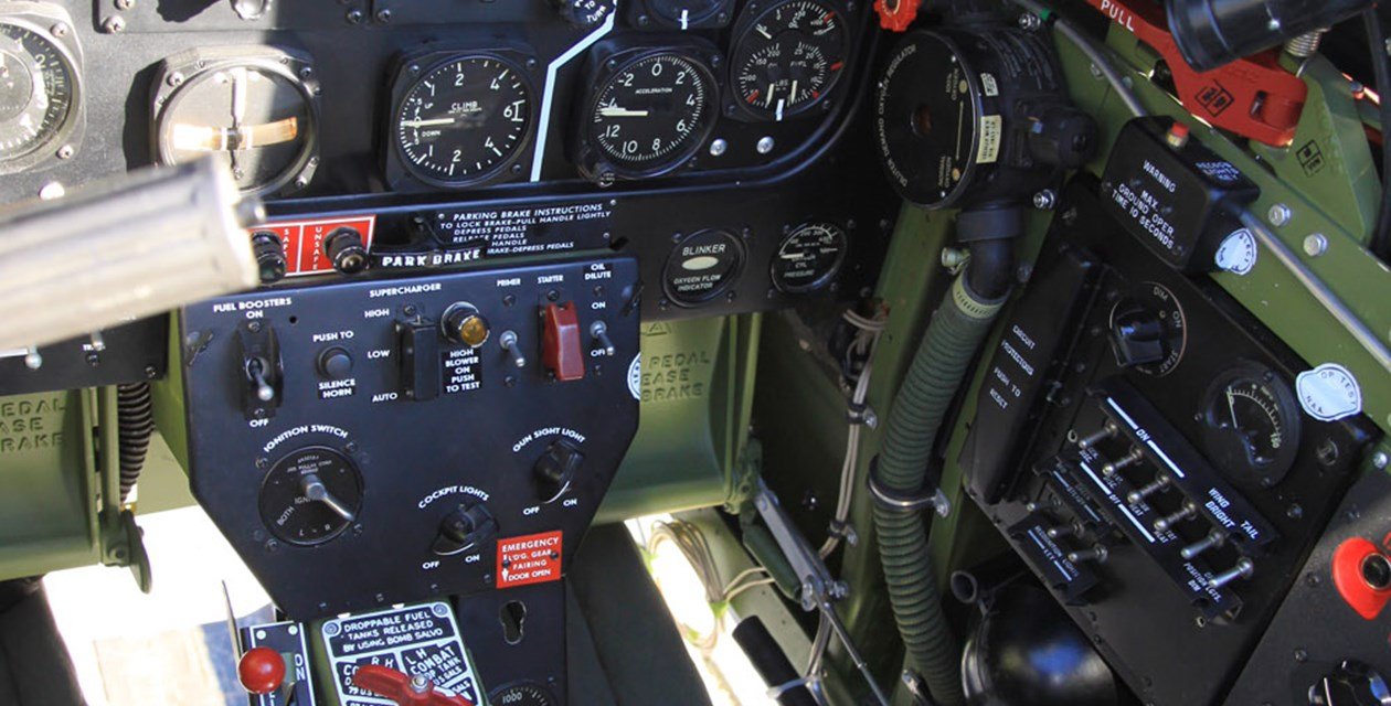 P-51D Cockpit Interior ©The Museum of Flight