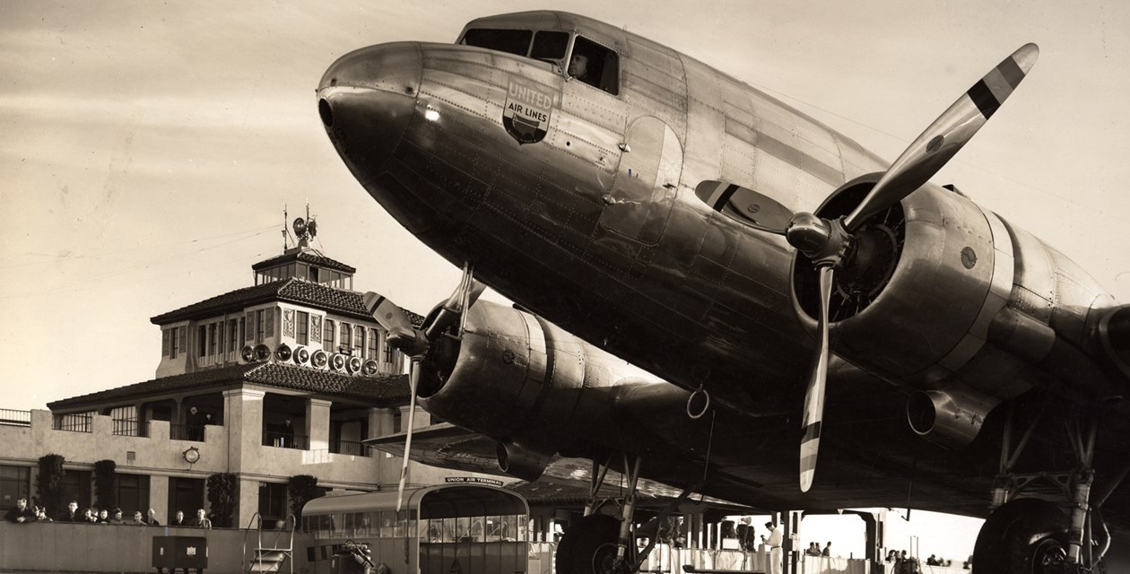 A Douglas DC-3 at a California Airport