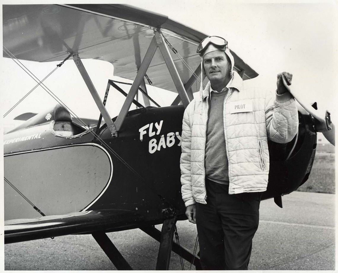 Peter Bowers with the Bowers Flybaby Prototype