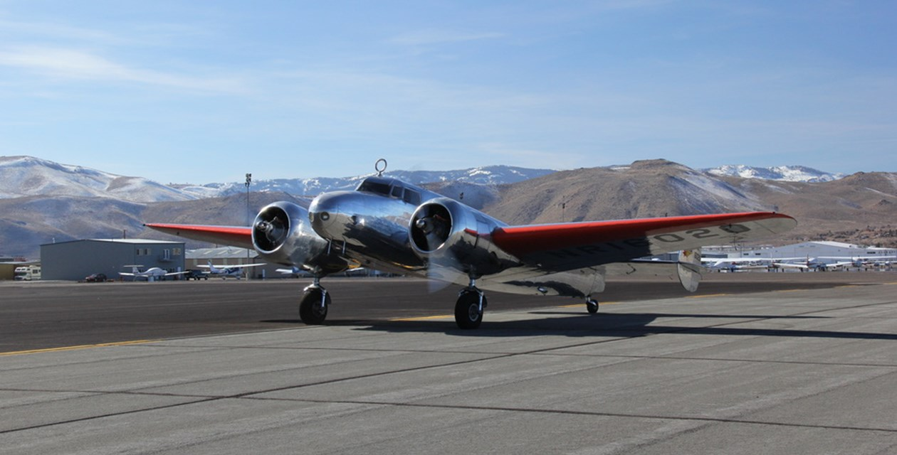 The Museum's Lockheed 10-E in Reno, NV -Tom Cathcart/The Museum of Flight