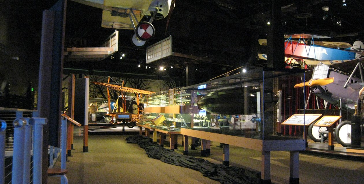 The 13 ft model Zeppelin on display in the Holtgrewe collection