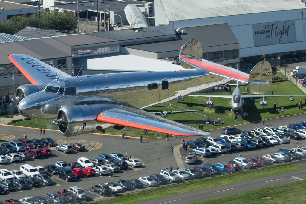 The Museum's Lockheed 10-E. Photo: Jeremy Dwyer-Lindgren