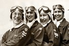 Local pilots Mildred Merril and Mary Riddle with others - Museum of Flight Collection