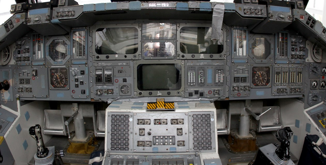 Shuttle Trainer cockpit