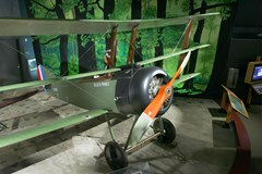 The Museum's Sopwith Triplane Reproduction on display in the Personal Courage Wing (Photo by Heath Moffatt)