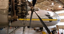 The Museum's Boeing B-29 Superfortress undergoing restoration in Boeing Plant 2