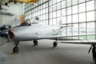 The Museum's Canadair CL-13B Sabre Mk. 6 on display in the Great Gallery