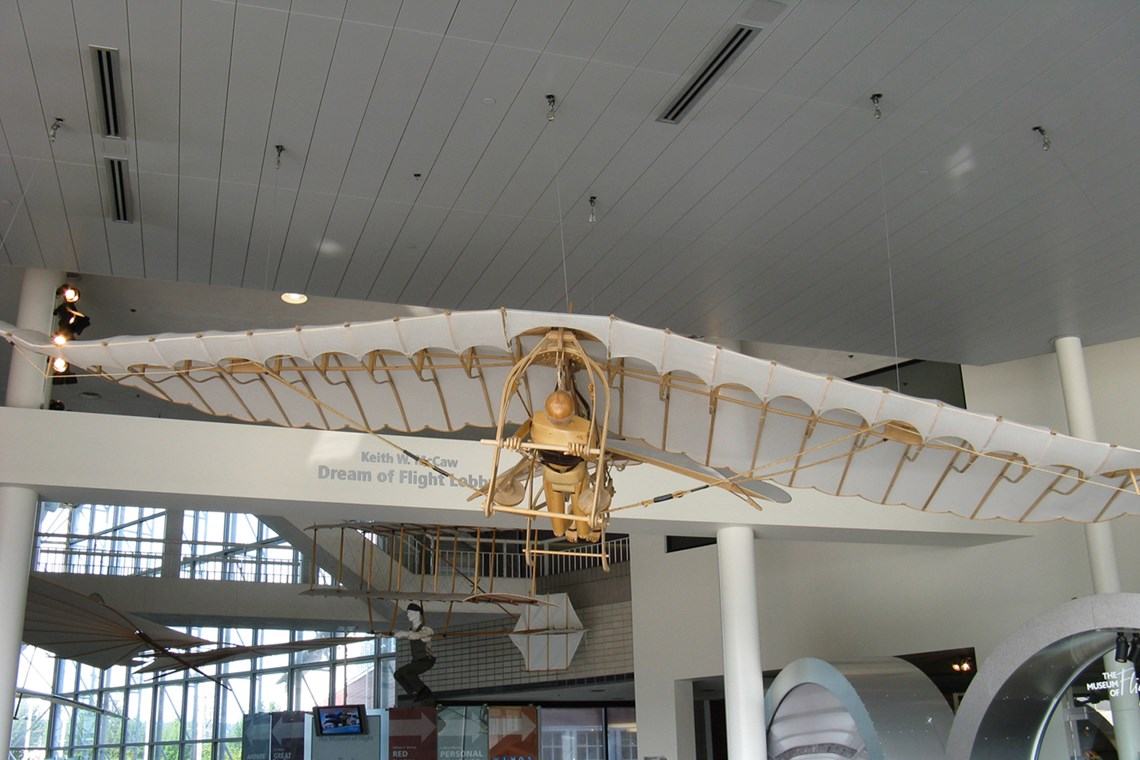 The Museum's da Vinci Il Cigno Interpretation on display in the Lobby