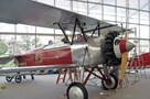 The Museum's Stearman C-3B being reassembled during an aircraft move in the Great Gallery