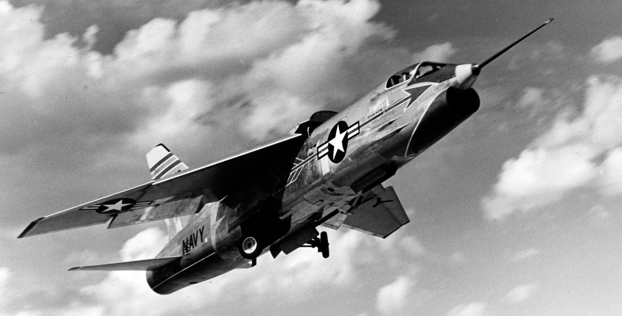A Vought (XF-8A) XF8U-1 Crusader